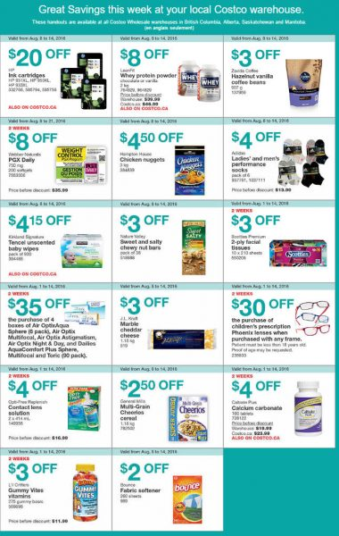 Costco Weekly Handout Instant Savings West Coupons (Aug 8-14)