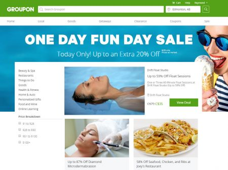 GROUPON Today Only - One Day Fun Day Sale - Up to an Extra 20 Off (Aug 24)