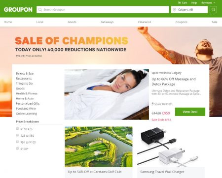 GROUPON Today Only - Sale of Champions (Aug 12)