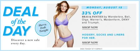 Hudson's Bay Deal of the Day - 33 Off Bras and Panties (Aug 15)