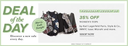 Hudson's Bay Deal of the Day - 35 Off Women's Tops (Aug 25)