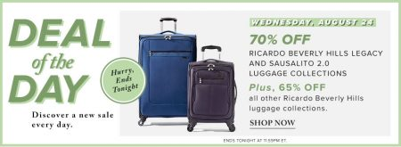 Hudson's Bay Deal of the Day - 70 Off Luggage Set (Aug 24)
