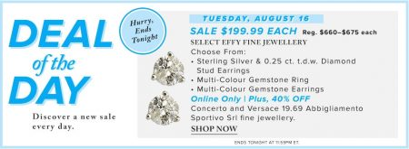 Hudson's Bay Deal of the Day - 70 Off Select EFFY Fine Jewellery (Aug 16)
