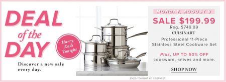 Hudson's Bay Deal of the Day - 73 Off 11-Piece Stainless Steel Cookware Set (Aug 8)
