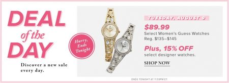 Hudson's Bay Deal of the Day - $89.99 for Women's Guess Watches, 15 Off Designer Watches (Aug 9)