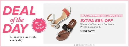 Hudson's Bay Deal of the Day - Extra 55 Off Women's Clearance Footwear (Aug 10)