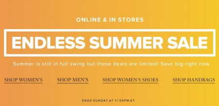 Hudson's Bay Endless Summer Sale (Until Aug 14)