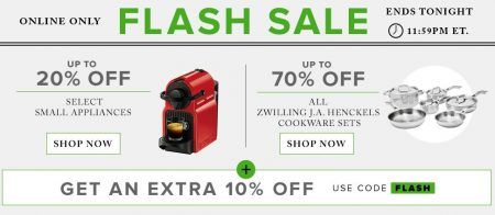 Hudson's Bay Flash Sale - 20 Off Small Appliances, 70 Off Zwilling JA Henckels Cookware Sets Extra 10 Off Promo Code (Aug 23)