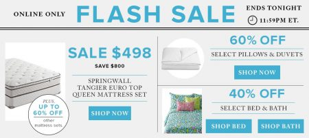 Hudson's Bay Flash Sale - 60 Off Pillows & Duvets, Up to 60 Off Mattress Sets, 40 Off Bed & Bath (Aug 3)