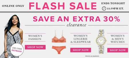 Hudson's Bay Flash Sale - Extra 30 Off Clearance Women's Fashion, Lingerie & Sleepwear, and Watches (Aug 17)
