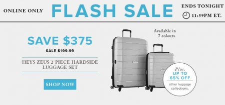 Hudson's Bay Flash Sale - Sale $199.99 for Heys Zeus 2-Piece Hardside Luggage Set - Save $375 (Aug 11)