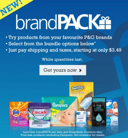 P&G Everyday Try P&G brandPACK Products from $3.49