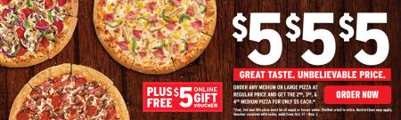 Pizza Hut $5 Bucks, $5 Bucks, $5 Bucks!