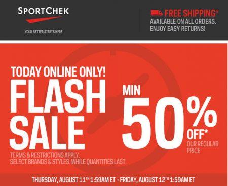 Sport Chek Flash Sale - Minimum 50 Off + Free Shipping All Orders (Aug 11)