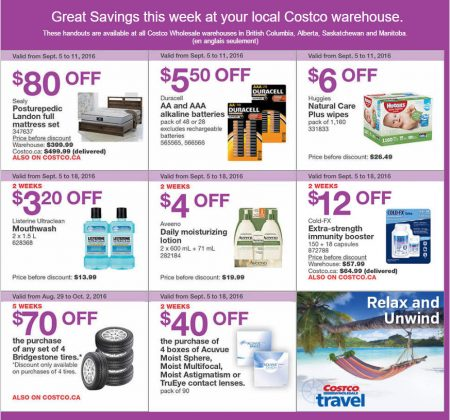 Costco Weekly Handout Instant Savings West Coupons (Sept 5-11)