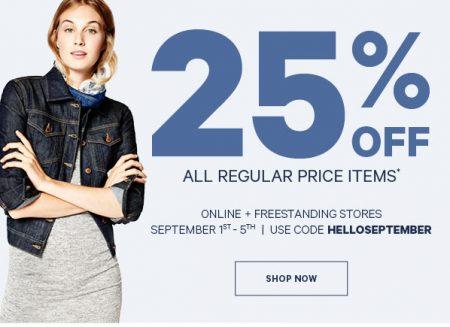 Joe Fresh 25 Off All Regular Price Items Promo Code (Sept 1-5)