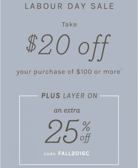 Naturalizer $20 Off Your Purchase of $100 + Extra 25 Off Promo Code (Sept 2-5)