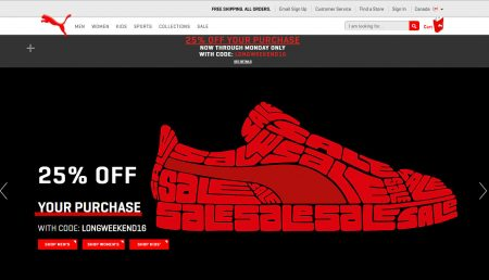 PUMA 25 Off Promo Code + Free Shipping All Orders (Sept 2-5)