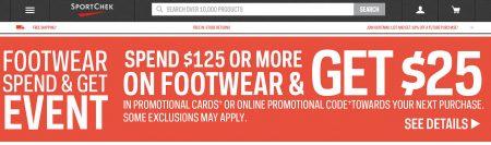 Sport Chek Footwear Spend & Get Event (Until Sept 5)