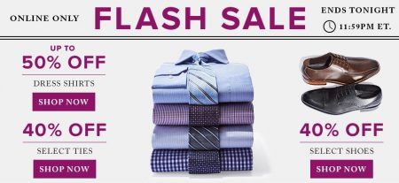 TheBay.com Flash Sale - Up to 50 Off Dress Shirts, Up to 40 Off Ties and Shoes (Sept 7)