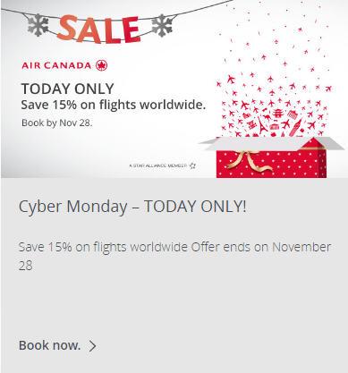 Best deals on air canada flights