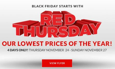Canadian tire red thursday black friday lowest prices for Las vegas hotels black friday deals
