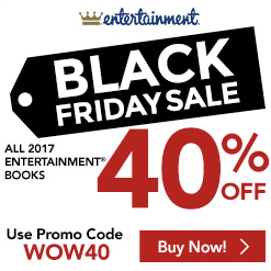 Entertainment books black friday sale 40 off all for Las vegas hotels black friday deals