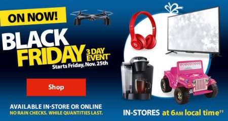 Walmart canada black friday 3 day event nov 25 27 for Las vegas hotels black friday deals