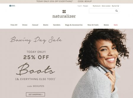 Naturalizer.ca: Boxing Day Sale - 25% Off Everything Promo ...