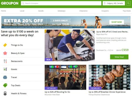 how to change city on groupon