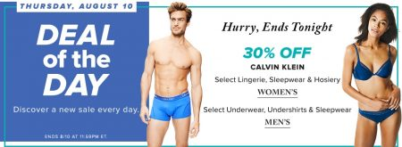 712b78bb6960 Hudson's Bay: Deal of the Day – 30% Off Calvin Klein Women's Lingerie &  Sleepwear, Men's Underwear & Sleepwear (Aug 10)