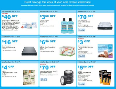 costco warehouse coupons september