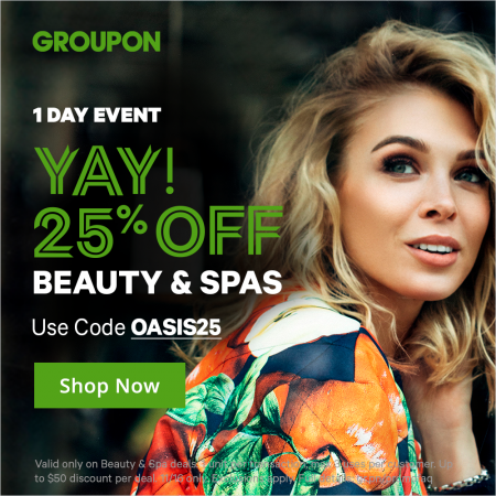 Groupon Today Only Extra 25 Off Beauty Amp Spa Deals