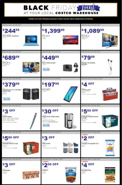 Costco black friday event weekly handout instant for Las vegas hotels black friday deals