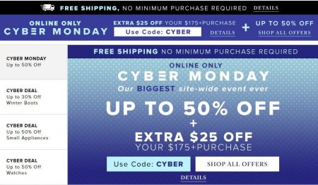 6a272a9dde60 Hudson's Bay: Cyber Monday – Up to 50% Off + Extra $25 Off $175 Purchase +  Free Shipping All Orders (Nov 27)