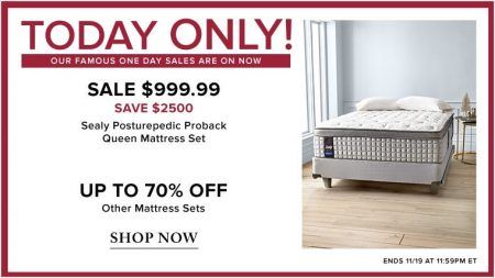 Ideal TheBay Today Only u Off Sealy Posturepedic Proback Queen Mattress Set Nov