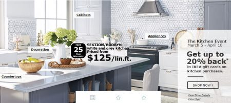 IKEA: Kitchen Event U2013 Get Up To 20% Back In IKEA Gift Cards On Kitchen  Purchases (Mar 5 U2013 Apr 16)