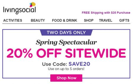 Promo codes calgary deals blog livingsocial extra 20 off sitewide promo code apr 6 7 fandeluxe Gallery