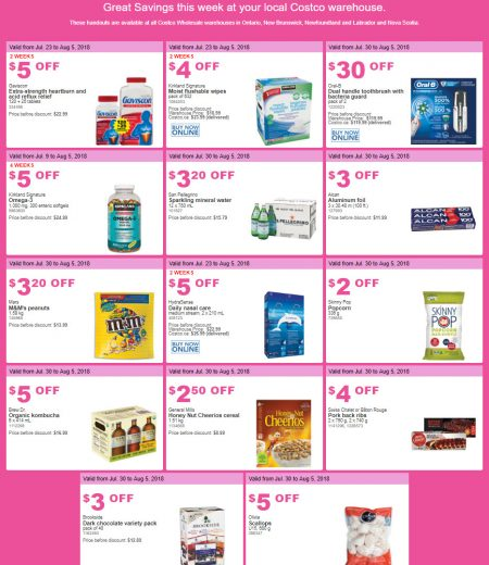 Costco: Weekly Handout Instant Savings East Coupons (July 30