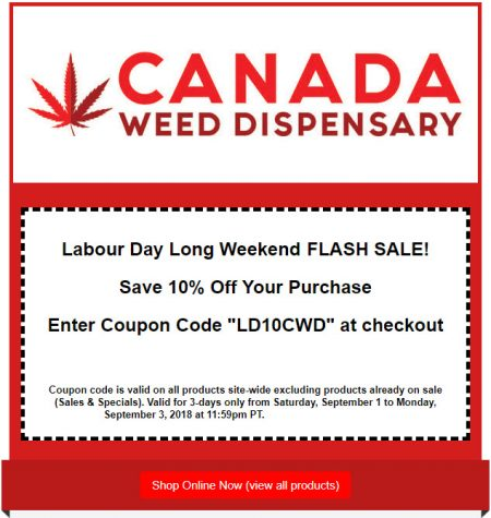Promo codes vancouver deals blog vancouver deals blog canadaweeddispensary flash sale 10 off coupon code sept 1 3 fandeluxe Gallery
