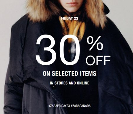 picture regarding Zara Printable Coupons named ZARA: Black Friday Sale 30% Off Pick Goods (Nov 23