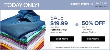 dffc13be0 TheBay.com: Today Only – Sale $19.99 for Tommy Hilfiger Polos, 50% Off  Other Men's & Boys' Clothing (June 7)